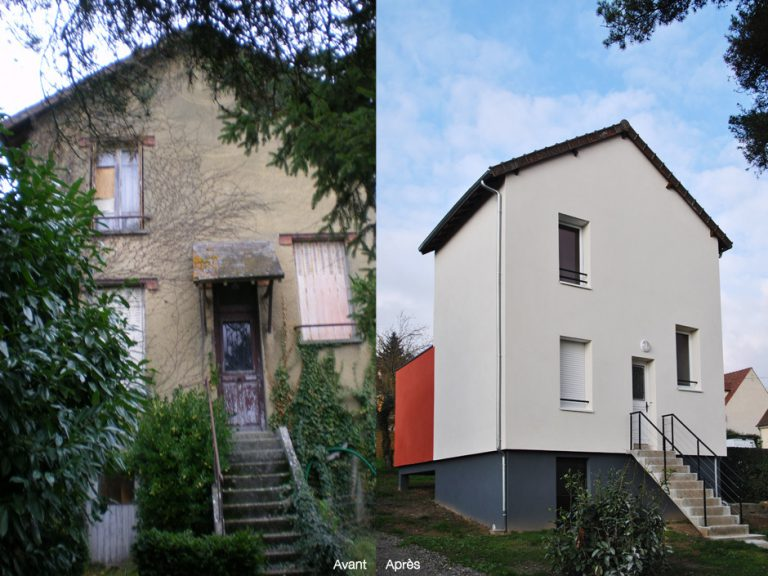 REHABILITATION ET EXTENSION D'UNE MAISON CHAMARANDE