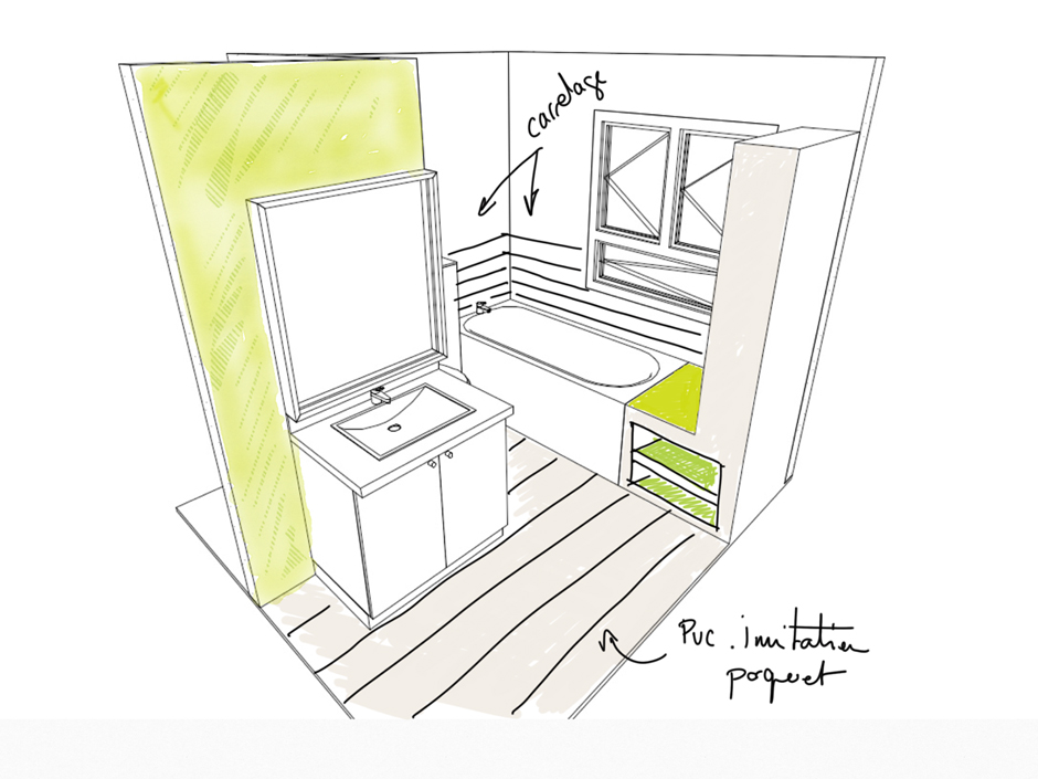 amenagement d une salle d eau. Black Bedroom Furniture Sets. Home Design Ideas